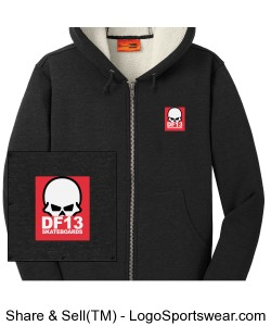 DF13 Heavy Sherpa-Lined Hoodie Jacket Design Zoom